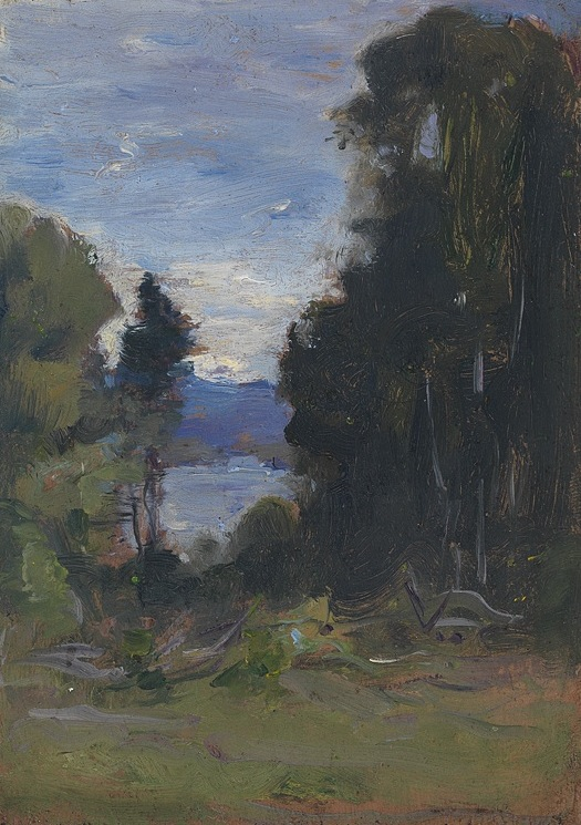 View Through the Trees, Kezar Lake, Lovell, Maine